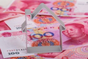 house pattern mould put on RMB notes